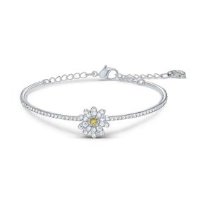 Swarovski Bracelet jonc Eternal Flower, jaune, finition mix de métal