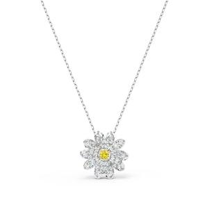 Swarovski Collier Eternal Flower, jaune, métal rhodié