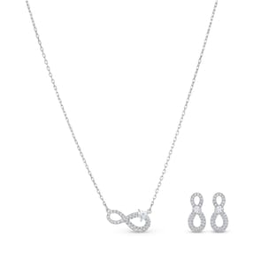 Swarovski Parure Infinity | Collier avec boucles d'oreilles