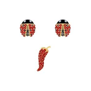Swarovski Boucles d'oreilles Lisabel, métal doré