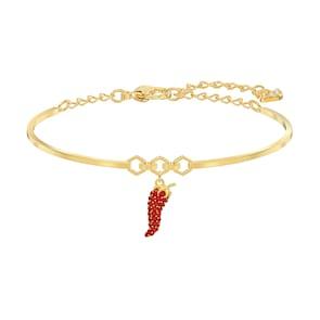 Swarovski Bracelet-jonc Lisabel Pepper, rouge, métal doré