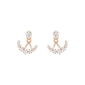 Swarovski Boucles d'oreilles Moonsun, blanc, métal doré rose