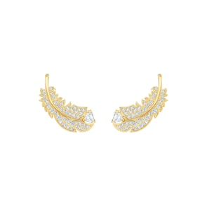 Swarovski Boucles d'oreilles Nice, blanc, métal doré