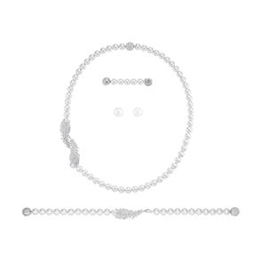 Swarovski Parure Nice Pearl | Collier, bracelet et boucles d'oreilles