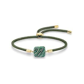 Swarovski Bracelet Power Collection Earth Element, vert, métal doré