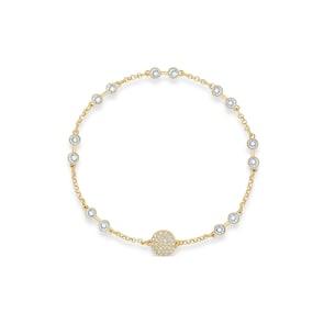 Swarovski Bracelet Remix Collection, blanc, métal doré