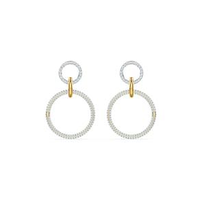 Swarovski Boucles d'oreilles Stone, blanc, finition mix de métal