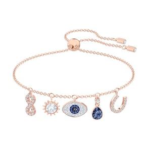 Swarovski Bracelet Symbolic, multicolor, métal doré rose