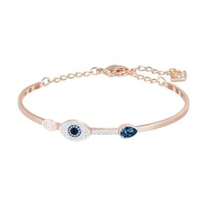 Swarovski Bracelet-jonc Symbolic Evil Eye, bleu, finition mix de métal