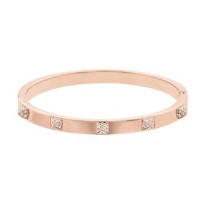 Swarovski Bracelet-jonc Tactic, blanc, métal doré rose