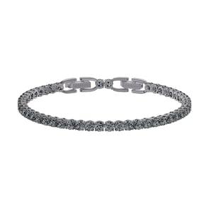 Swarovski Bracelet Tennis Deluxe, gris, Métal plaqué ruthénium