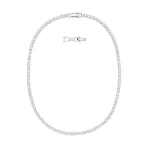 Swarovski Collier Tennis Deluxe, blanc, métal rhodié