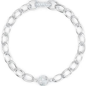Swarovski Bracelet The Elements Chain, blanc, métal rhodié
