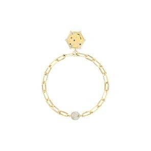 Swarovski Bracelet The Elements Moon, bleu, métal doré