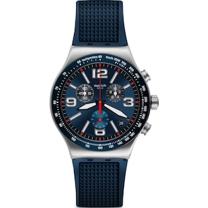 Swatch Irony Chrono Blue Grid