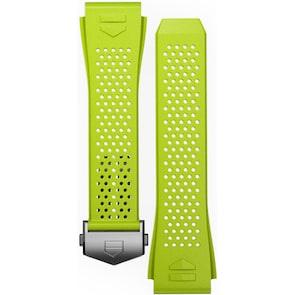 TAG Heuer Connected 2020 Bracelet de Montre Caoutchouc Vert Citron