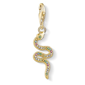 Thomas Sabo Pendentif Charm Serpent Coloré