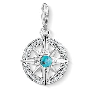 Thomas Sabo Pendentif Charm Boussole Turquoise