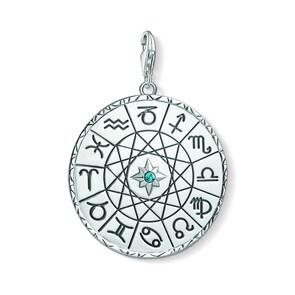 Thomas Sabo Pendentif Charm Médaille Signe Astrologique Argent