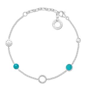 Thomas Sabo Bracelet Charm Pierres Tourquoise
