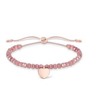 Thomas Sabo Charm Club Bracelet rose perles cœur or rose