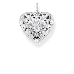 Thomas Sabo Sterling Silver Glam & Soul Pendentif Médaillon Cœur Étoile argent