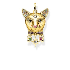 Thomas Sabo Sterling Silver Glam & Soul Pendentif Chat Or