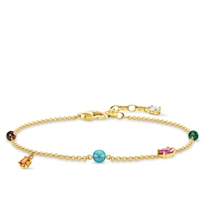 Thomas Sabo Sterling Silver Glam & Soul Bracelet pierres multicolores