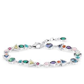 Thomas Sabo Sterling Silver Glam & Soul Bracelet Pierres Multicolores