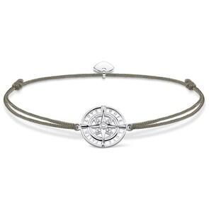 Thomas Sabo Sterling Silver Glam & Soul Bracelet Little Secret Boussole Foi, Amour, Espoir