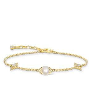 Thomas Sabo Sterling Silver Glam & Soul Bracelet perle avec étoiles or