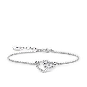 Thomas Sabo Sterling Silver Glam & Soul Bracelet Cœur Together Petit