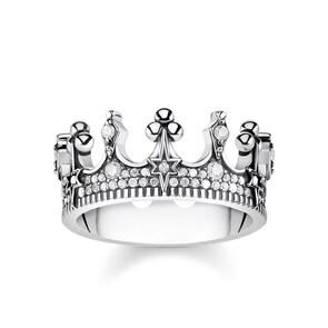 Thomas Sabo Sterling Silver Glam & Soul Bague pour Femmes Royalty Couronne Argent
