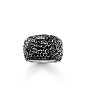 Thomas Sabo Sterling Silver Glam & Soul Bague Eternity Pavé Noir