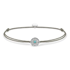 Thomas Sabo Sterling Silver Glam & Soul Chaîne de Cheville Little Secret Amulette Ethnique