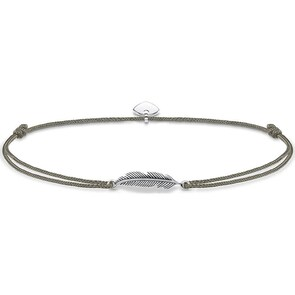 Thomas Sabo Sterling Silver Glam & Soul Chaîne de Cheville Little Secret Plume