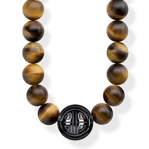 Thomas Sabo Sterling Silver Glam & Soul Chaîne Power Necklace marron