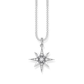Thomas Sabo Sterling Silver Glam & Soul Chaîne Royalty Étoile Blanc