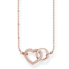 Thomas Sabo Sterling Silver Glam & Soul Chaîne Cœur Together Forever