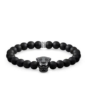 Thomas Sabo Sterling Silver Rebel at Heart Bracelet Black Cat Onyx