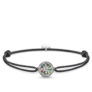 Thomas Sabo Sterling Silver Rebel at heart Bracelet Little Secret Boussole Nacre d´Abalone