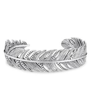 Thomas Sabo Sterling Silver Rebel at Heart bracelet jonc plume