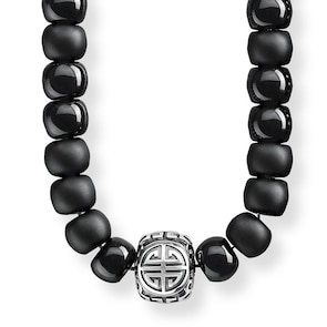 Thomas Sabo Sterling Silver Rebel at Heart Chaîne Power Necklace Ethnique noir