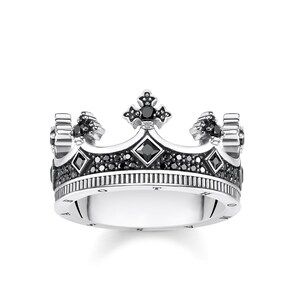 Thomas Sabo Sterling Silver Rebel at Heart Bague Couronne