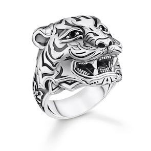 Thomas Sabo Sterling Silver Rebel at Heart Bague Tigre Argent