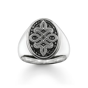 Thomas Sabo Sterling Silver Rebel at Heart Chevalière Love Knot