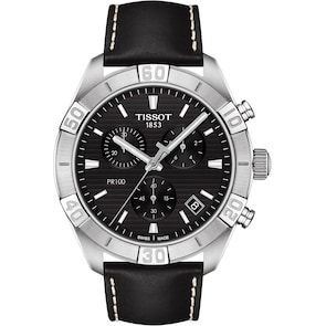 Tissot PR 100 Sport Gent Chronographe Cuir noir