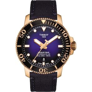 Tissot Seastar 1000 Powermatic 80 Rosé / Bleu