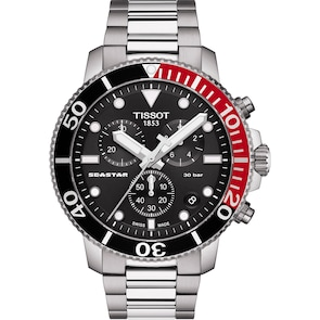 Tissot Seastar 1000 Quartz Chronographe Noir / Rouge