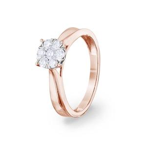 Bague de fiançailles 750/18 K or rosé avec diamants 0.33 ct H/si by CHRISTIAN